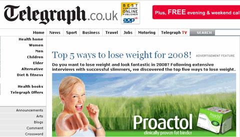 Proactol Telegraph Diet Pill Promo